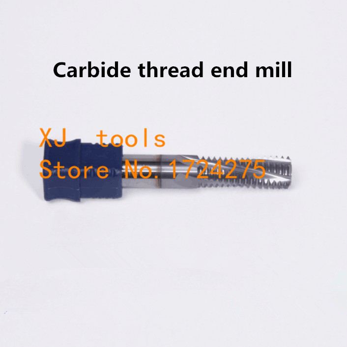Free Shipping Carbide thread end mill M12*1.5 M12*1.75 M14*2 thread mills, thread milling cutter with TIALN coatingFree Shipping Carbide thread end mill M12*1.5 M12*1.75 M14*2 thread mills, thread milling cutter with TIALN coating