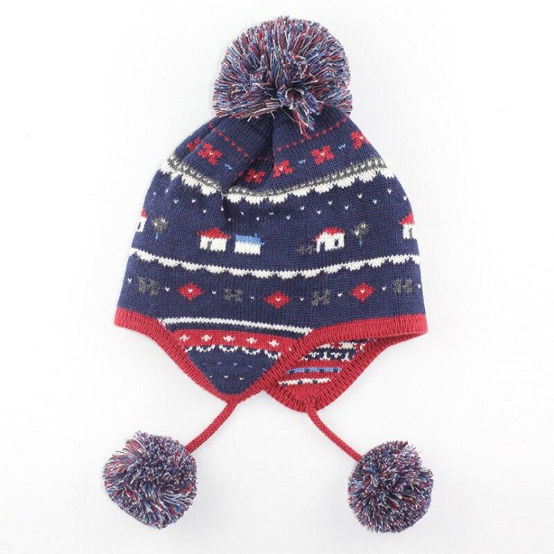 Boy Girl Hat 6 Colors Children Wool Cap Baby Girls Winter Fashion Kids Beanie Hats Boys Solid Print B0755