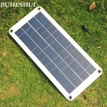 BUHESHUI 10.5W 12V Solar Cell Panel Semi-flexible Transparent with DC Output  Mini Solar panel for DIY Solar System High Quality