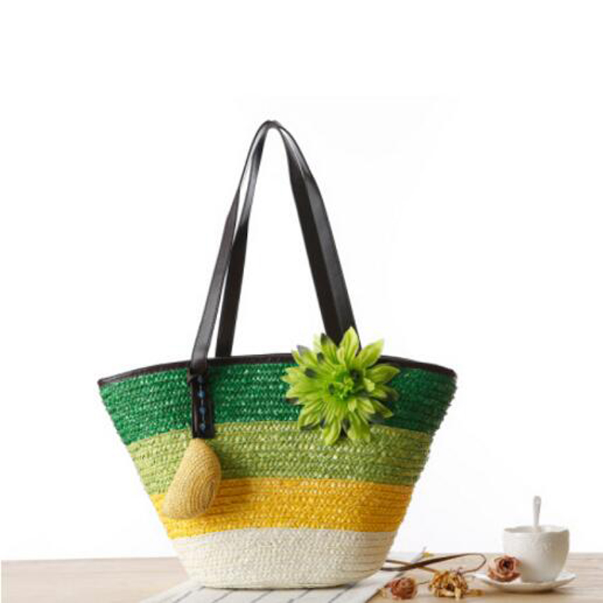 novo simples pura palha bolsa Closed Form : Zipper