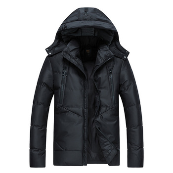 Rlyaeiz High Quality 2018 Winter Jacket Men Thicken Windproof Warm Hooded Parkas Coats Solid Down Jackets Mid-long Winter Coat