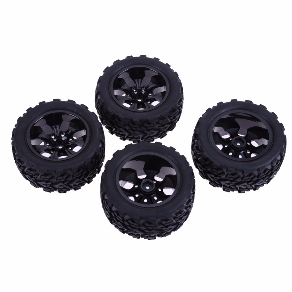 4pcs RC 1/10 Universal Car Racing Wheel Rim Tires Off-road Bigfoot Tire for HSP Redcat Traxxas Tamiya HPI Car Bike Trial 4pcs aluminum alloy 52 26mm tire hub wheel rim for 1 10 rc on road run flat car hsp hpi traxxas tamiya kyosho 1 10 spare parts