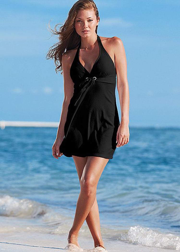 2018 Women Sexy Backless Beach Cover Up Swimwear Bikini Cover Up Swim Beach Deep V -2937