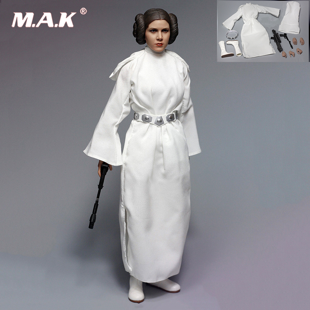 A013 1/6 Scale Princess Leia Clothes Accessories Set Without Head & Body for 12'' Female Action Figure Body 1 6 scale female head shape for 12 action figure doll accessories doll head carved not include body clothes and other km15