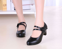Hot Selling Fashion Style Ankle Strap Genuine Leather Casual Shoes Sexy High Heels Pumps Party Shoes