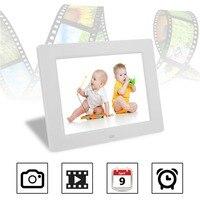 10 Cal 640*480 Rozdzielczość LCD Cyfrowy Ekran Ramki Na Zdjęcia HD Wielofunkcyjny Wbudowany FLASH Mp3 I Mp4 odtwarzacz budzik