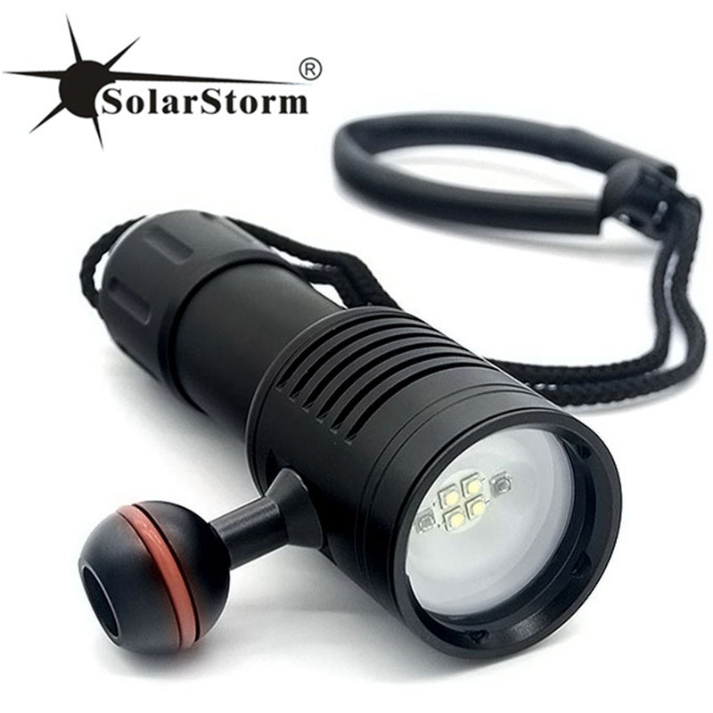 Solarstorm D02 XPG2 LED Scuba Diver Diving Flashlight 100M 3200 Lumens LED Torch Waterproof Lantern Lanterna