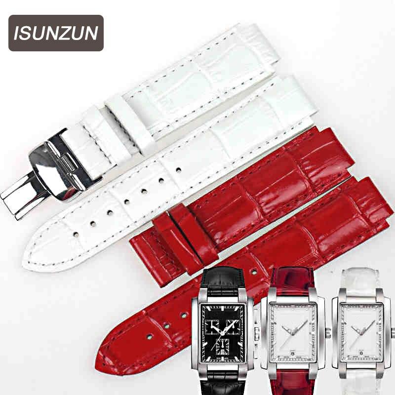 ISUNZUN femmes bracelet de montre est adapté pour Tissot T061.310/T061.510 bracelet de montre en cuir véritable marque bracelet en cuir bracelets de montre