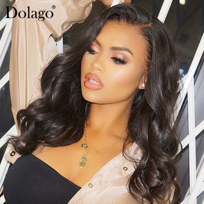 Transparent Lace Wigs Body Wave 360 Lace Frontal Wig 180% Density Brazilian Lace Front Human Hair Wigs With Baby Hair Bob Dolago