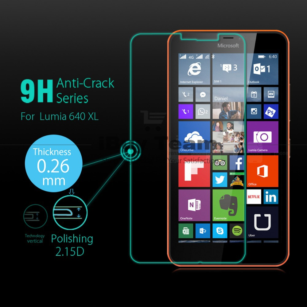 WolfRule 2 Pcs sFor Lumia 640 XL Screen Protector Tempered Glass For Microsoft N