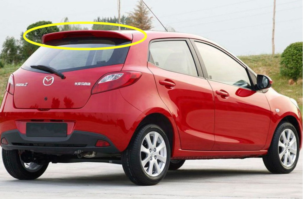 Auto <font><b>Spoiler</b></font> For <font><b>Mazda</b></font> <font><b>2</b></font> Hatchback 2007.2008.09.2010.2011.2012.2013 High Quality Rear Wing <font><b>Spoilers</b></font> Car Accessories image