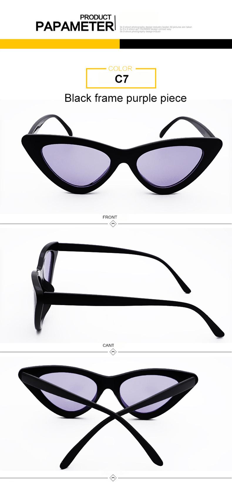 HTB13OP iLJNTKJjSspoq6A6mpXaQ - WHO CUTIE 2018 Brand Designer Black Cat Eye Sunglasses Women Cool Small Cateye Frame Sun Glasses Fashion UV400 Shades WG-008