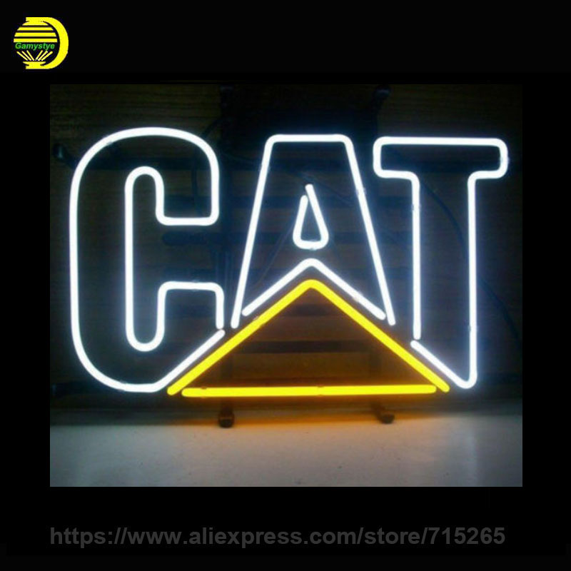 caterpill cat neon sign real glass tube neon tubes red. Black Bedroom Furniture Sets. Home Design Ideas