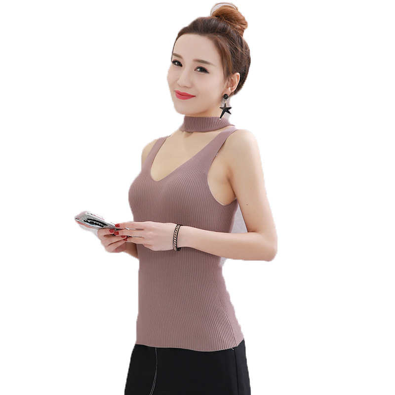 2017 donut sleeveless tank knitting small condole  vest sexy top female T-shirt summer crop tops tank top women bralette