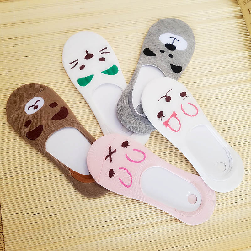 Warm Comfortable Cotton Bamboo Fiber Girl Women's Socks Ankle Low Female Invisible  Color Girl Boy Hosier 1pair=2pcs WS67