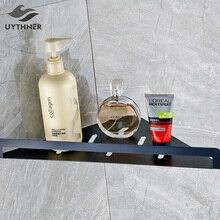 Uythner Современная масло втирают Бронзовый треугольные Форма полка ванной один ярус товар Полка