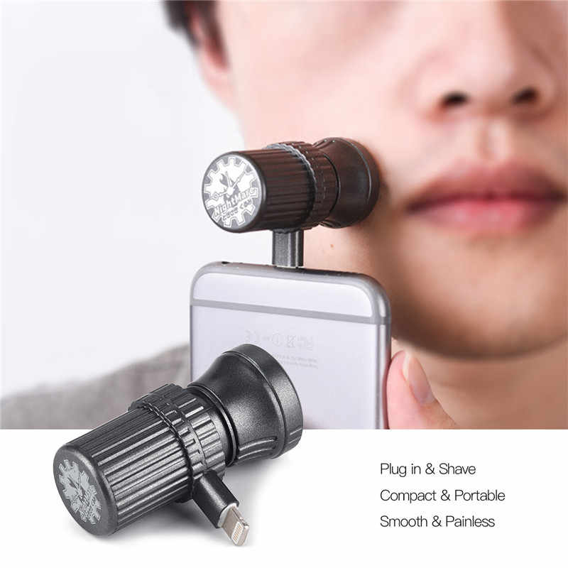Travel Razor Mini Smartphone Shaving For Android iPhone Cell Phone Outdoor Portable Micro-USB Electric Shavers Beard Trimmer 423