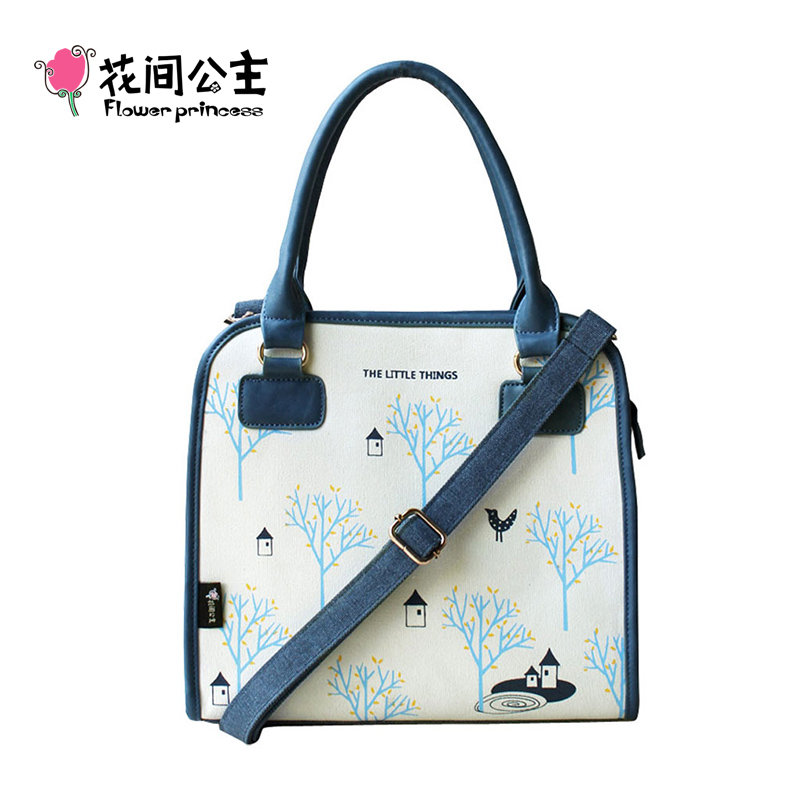 Flower Princess Canvas Women Handbags Age S Tote Shoulder Crossbody Bags Las Hand Sac A Main Femme Bolsos Mujer In Top Handle From