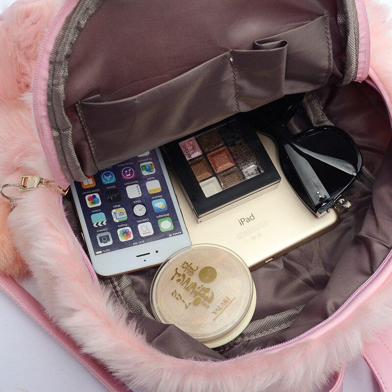 bolsa escola estudante mochila de Color : Black / Pink