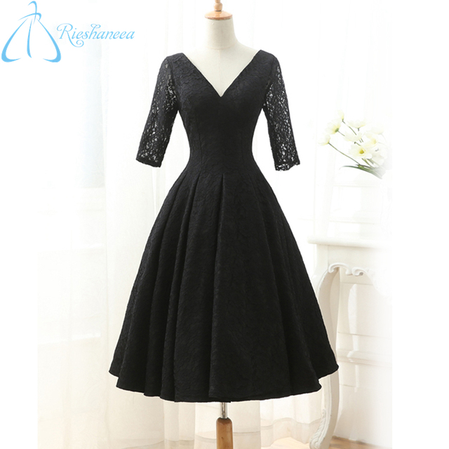 2017 Real Photos Cheap New Arrival Elegant Simple Black Ball Gown