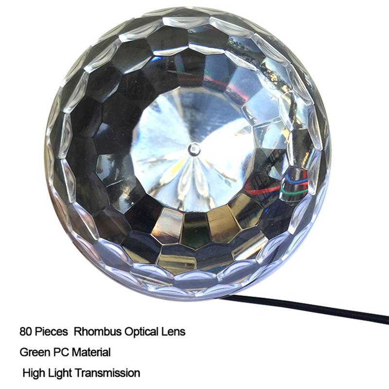 High quality Crystal Magic Ball Led Stage Lamp Sound Control Modes 9 Colors 27W Stage Lighting Disco Laser Light Party Lights 30w high power professional stage light butterfly laser light rgbw sound control 110 240v stage lamp
