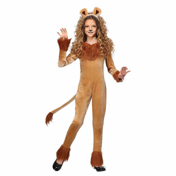 Новый Косплэй костюм лев костюмы на Хэллоуин карнавальный детский день этап  ТВ шоу выступления костюмы hy b438eb2b10a73