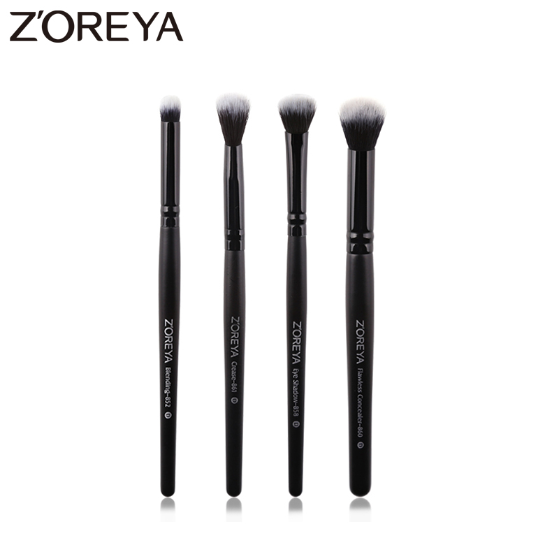 Zoreya Marke 4 stücke Lidschatten Make-Up Pinsel Blending Kosmetik Pinsel Für Make-Up Falte Flawless Concealer Make-Up-Tools