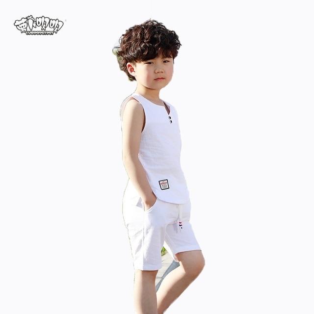 65c5ca50d28f Children Summer Clothing Sets Boys Cotton Vest Pants 2PCS Clothing Sets Kids  Casual Sports Tracksuit Clothes Sets