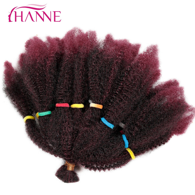 Hanne Afro Extensions Bulk Hair Small Kinky Curly 12 Inch Pure Or