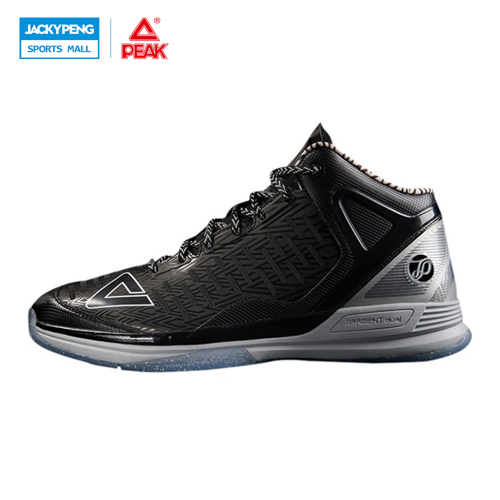 PEAK SPORT Tony Parker II TP9 Professional Player Special Edition Men Basketball Shoes Gradient Dual Tech Sneakers EUR 40-50 peak sport star series george hill gh3 men basketball shoes athletic cushion 3 non marking tech sneakers eur 40 50