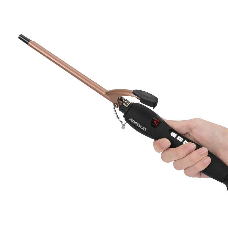 Aofeilei professionnel 9mm fer à friser vague de cheveux poire fleur cône en céramique curling baguette rouleau Salon de beauté bigoudis