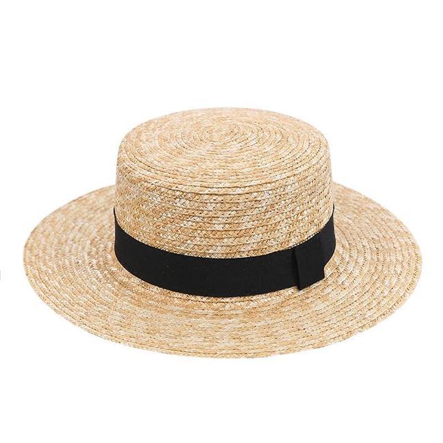 e1f77ca9 2018 Women Wide Brim Straw Hat Fashion Chapeau Paille Summer Lady Sun Hats  Boater Wheat Panama Beach Hats Chapeu Feminino Caps