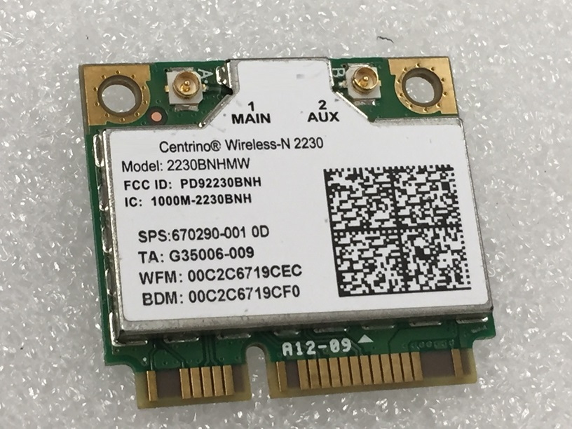 SSEA New Network Card For Intel Centrino Wireless-N 2230 Half Mini Pcie WIFI Bluetooth4.0 Card For Hp DV4 DV6 DV7 SPS 670290-001
