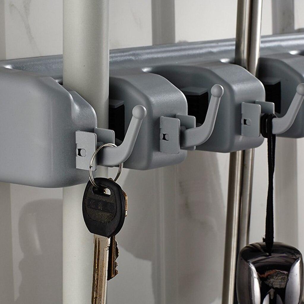 Vereinigt Wand Montiert Garage Werkzeug Rack Küche Lagerung Organizer Mop Besen Aufhänger Garage Schrank Keeper Veranstalter 4 Position Hardware