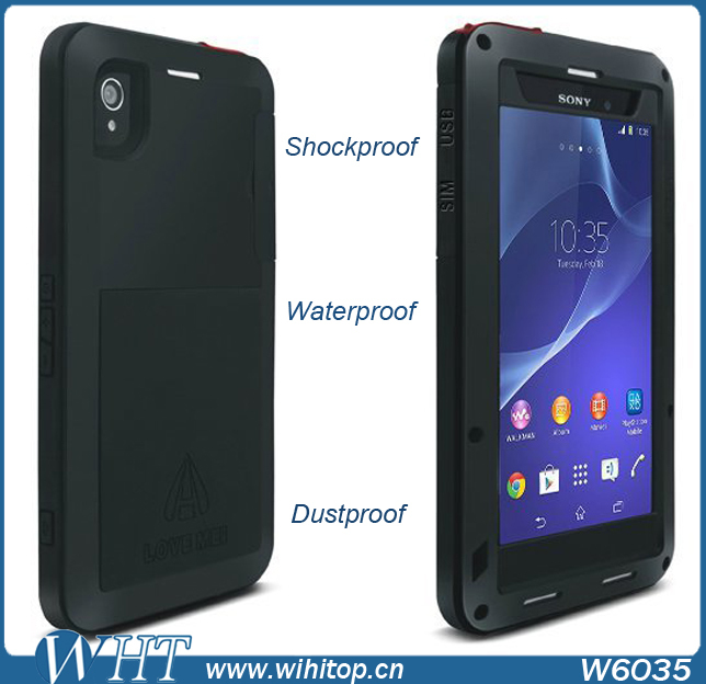 the latest a9c76 6f994 US $188.99 |Heavy Duty Combo Case Waterproof Case for Sony Xperia Z2  Shockproof Cover Dust Proof Rugged Case for Sony Z2 Free Shipping on ...