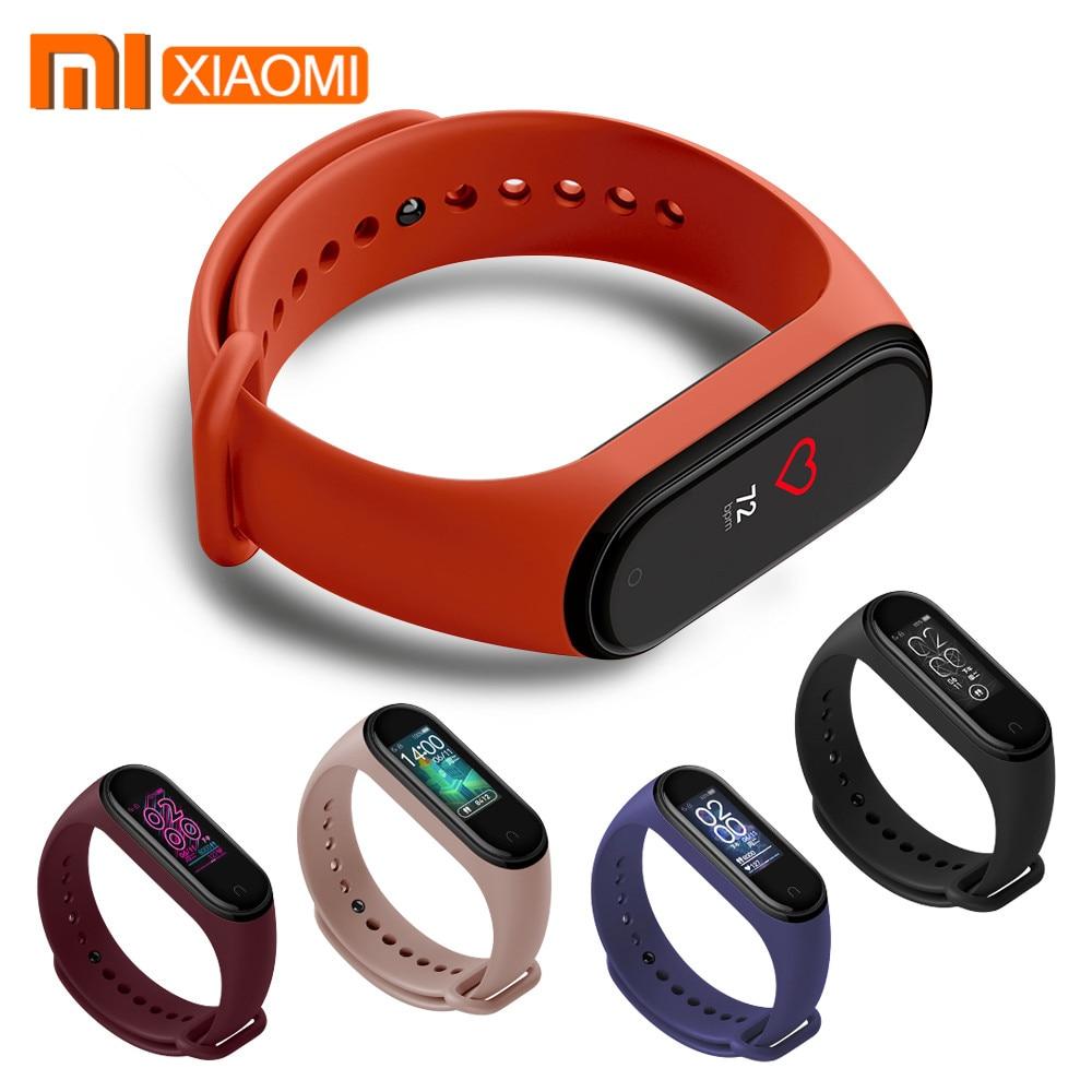 Оригинальный силиконовый браслет Xiaomi Mi Band 4 на ремешке, браслет Xiaomi Mi Band 3 4 band 3 Mi Band 3, розовый ремешок на запястье Xiomi Mi Band|Смарт-аксессуары|   | АлиЭкспресс
