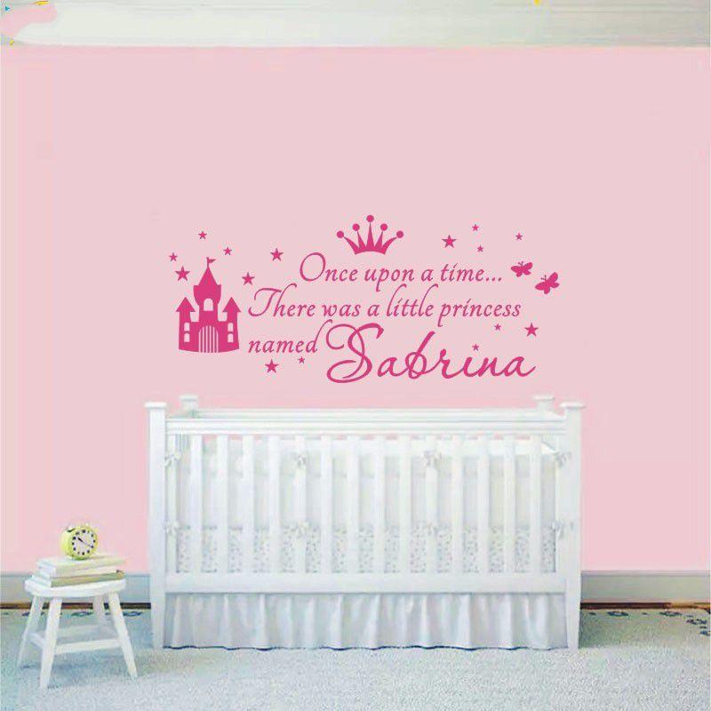 personnalise princesse fille nom stickers muraux autocollant pour enfants chambres bebe pepiniere stickers muraux decor a la maison vous choisissez le