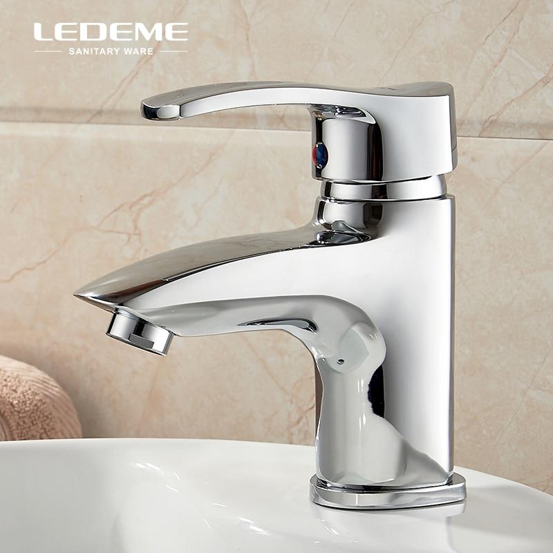 LEDEME robinet de lavabo en laiton massif robinet de lavabo moderne à poignée unique robinet de lavabo Simple robinet d'eau évier mélangeur grue L1064