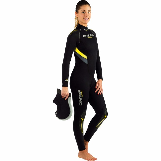 6e39582d7d Cressi Castoro Lady 5mm All-in-one Wetsuit Women Professional Neoprene  Wetsuits Scuba Diving suit for Adults