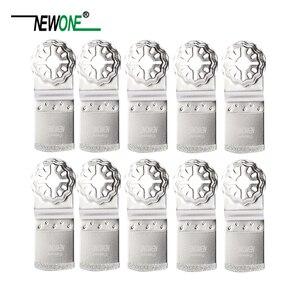 Image 3 - NEWONE Starlock יהלומים מצופה E צורת נדנוד כלים מסור להבים רב כלי מסור להבים לטייל בטון