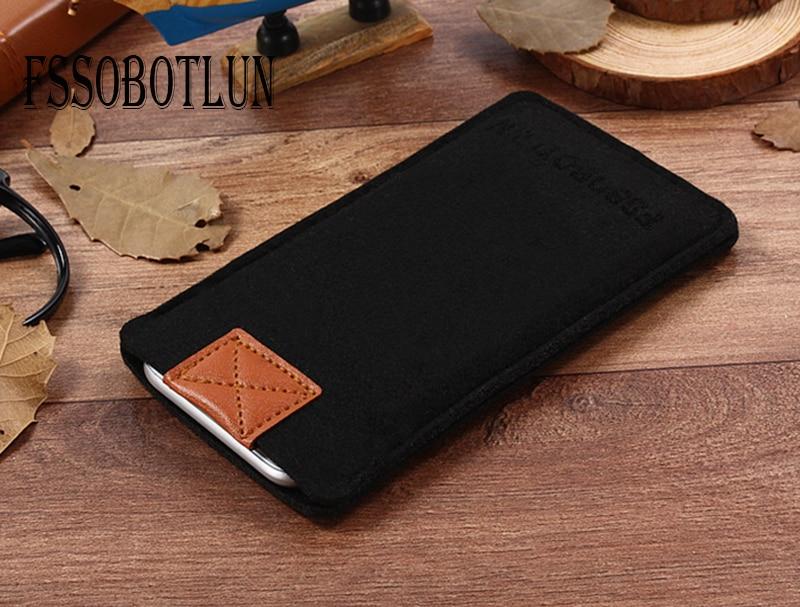 FSSOBOTLUN,3 Colors,Business Style Handmade Wool Felt Sleeve Bag Pocket Pouch Protector Phone Case For ZTE Nubia Prague S 5.2