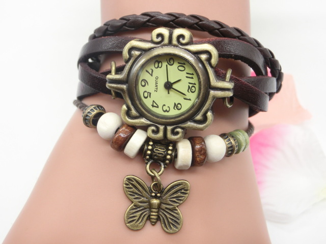 Women Watches Vintage Multilayer Butterfly Pendant Ladies Bracelet Watch Casual Charm Quarzt Wrist Watch Clock Relogio Feminino