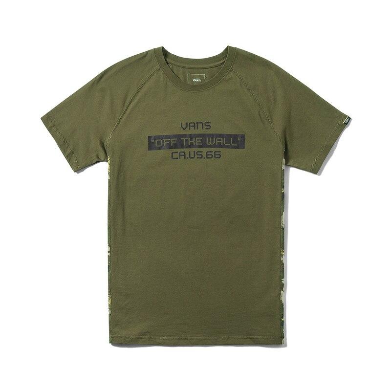 90a690bf0a2c9c Original New Arrival Vans Men s Logo Short Sleeve T Shirt Cotton O neck  Skateboarding Tops Tees Comfortable VN0A3DCSGRH-in Skateboarding T-Shirts  from ...