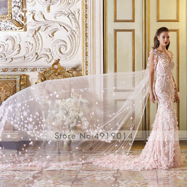 6fac54cdf Swanskirt vestido de boda boho novia cabo extraíble Sexy bordado flores  2019 nuevo personalizado plus tamaño U125