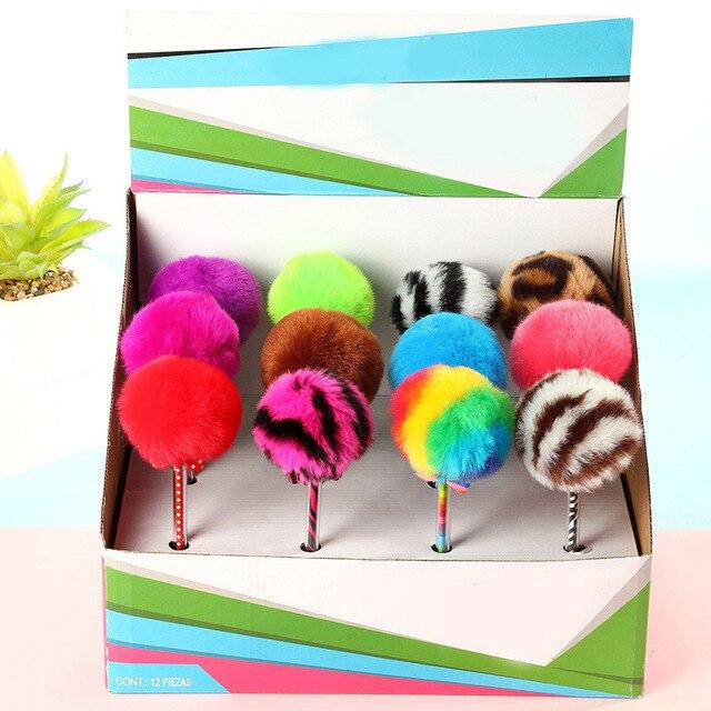 Creative Plush Pens Cute Ballpoint Pens Kawaii Ball Pens For Children Gifts School Office Supplies Korean Stationery 2