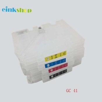1 set Cartuccia di Inchiostro Riutilizzabile Vuota per Ricoh GC41 GC 41 Per Ricoh SG3110DN SG3110DNW 3100 2100 2010L 3100SF