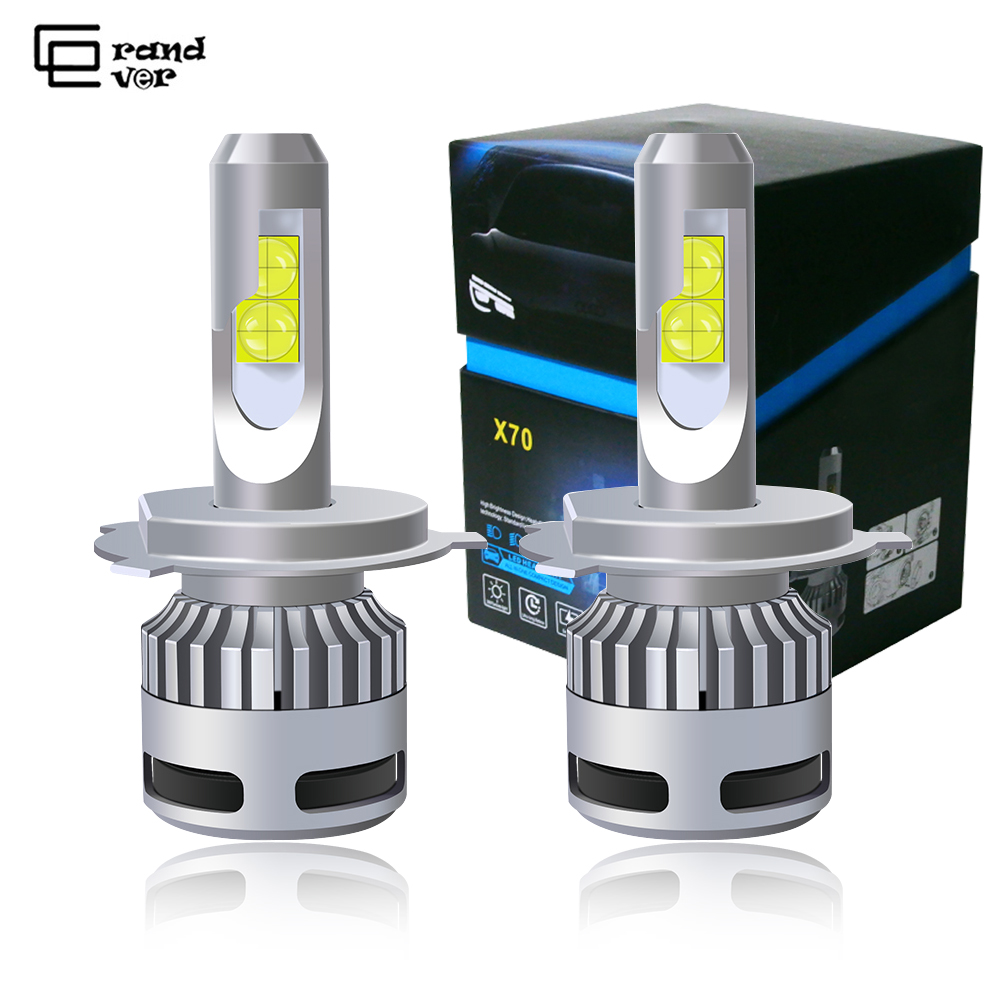 2PCS <font><b>100W</b></font> 12000LM XHP70 Car Lights <font><b>H4</b></font> <font><b>LED</b></font> Bulbs H7 <font><b>LED</b></font> Canbus Error Free 9005 HB3 Lamp 9006 HB4 9012 H8 H9 H11 <font><b>LED</b></font> <font><b>Headlight</b></font> Kit image
