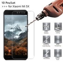 10 Pcs/Lot 2.5D 9H Premium Tempered Glass For Xiaomi Mi5X 5.5inch Screen Protector Toughened protective film Mi 5X