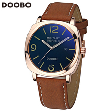 Rose Gold Men's Quartz Leather Casual Waterproof Wrist Watch