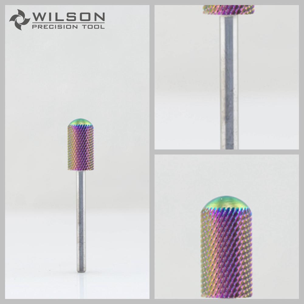 2pcs Large Barrel Smooth Top Bit  - Medium (M-1120056) - Rainbow Coating - WILSON Carbide Nail Drill Bit 2pcs Large Barrel Smooth Top Bit  - Medium (M-1120056) - Rainbow Coating - WILSON Carbide Nail Drill Bit